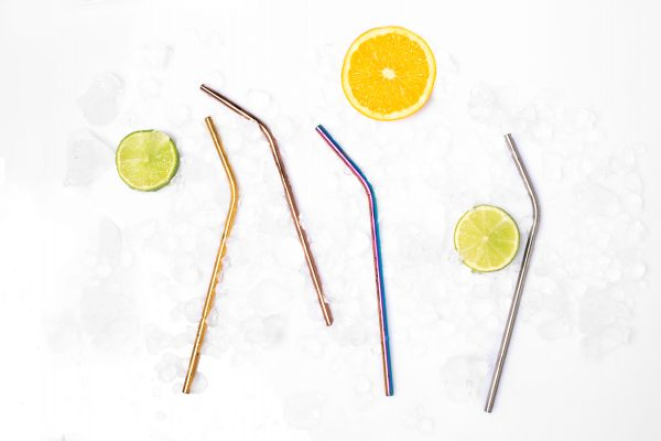 colorful stainless steel drinking straws happy straw